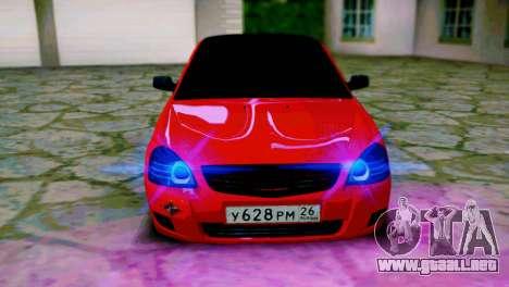 Lada 2170 Priora Spartak De Moscú para la visión correcta GTA San Andreas