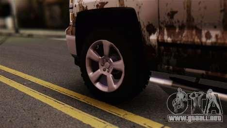 Chevrolet Silverado Enlodada para GTA San Andreas vista posterior izquierda