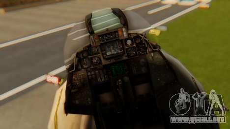 F-14A Tomcat VF-202 Superheats para GTA San Andreas vista hacia atrás