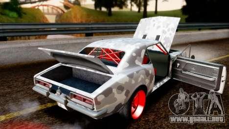 Chevrolet Camaro SS Camo Drift para visión interna GTA San Andreas