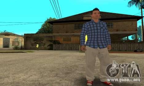Skin Claude [HD] para GTA San Andreas quinta pantalla