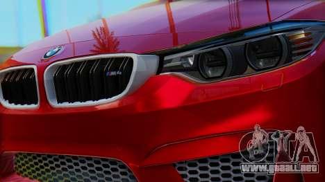 BMW M4 2015 HQLM para la visión correcta GTA San Andreas
