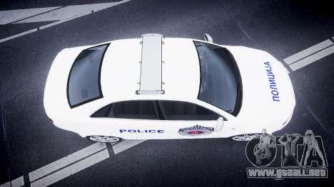 Audi RS4 Serbian Police [ELS] para GTA 4 visión correcta