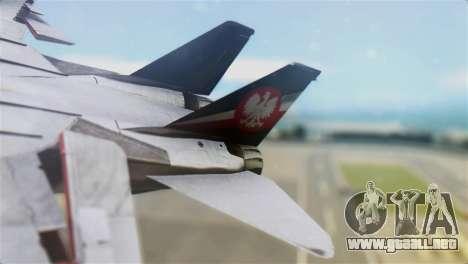 F-14D Super Tomcat Polish Navy para GTA San Andreas vista posterior izquierda