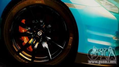 Nissan GT-R 2015 para la visión correcta GTA San Andreas
