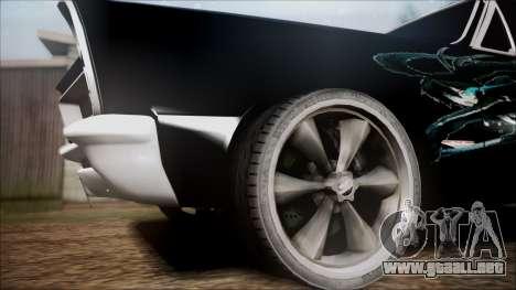 Pontiac GTO Black Rock Shooter para GTA San Andreas vista posterior izquierda