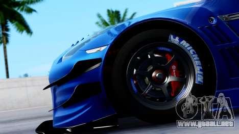 Nissan GT-R (R35) GT3 2012 PJ2 para GTA San Andreas vista hacia atrás