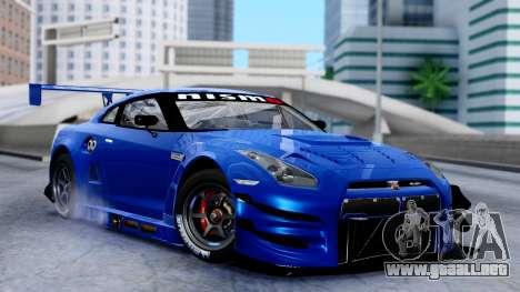 Nissan GT-R (R35) GT3 2012 PJ2 para GTA San Andreas