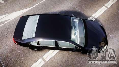 Chevrolet Impala Unmarked Police [ELS] ntw para GTA 4 visión correcta