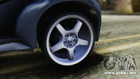Toyota Aygo Sporting para GTA San Andreas vista posterior izquierda
