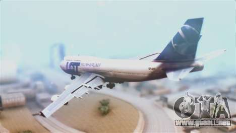 LOT Polish Airlines Boeing 747-400 para GTA San Andreas left