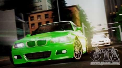 BMW M3 E46 v2 para GTA San Andreas vista posterior izquierda