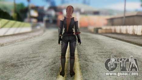 Dead Or Alive 5 Kasumi Ninja Black Costume para GTA San Andreas tercera pantalla