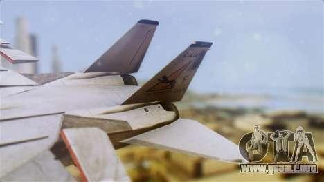 F-14A Tomcat VF-21 Freelancers para GTA San Andreas vista posterior izquierda
