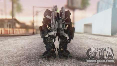 Ironhide Skin from Transformers v3 para GTA San Andreas tercera pantalla