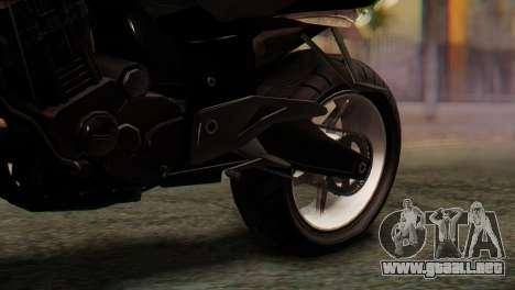 Bajaj Rouser 135 Stunt para GTA San Andreas vista hacia atrás