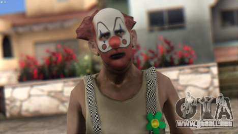 Clown Skin from Left 4 Dead 2 para GTA San Andreas tercera pantalla