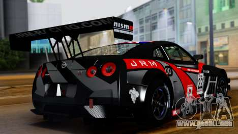 Nissan GT-R (R35) GT3 2012 PJ3 para visión interna GTA San Andreas