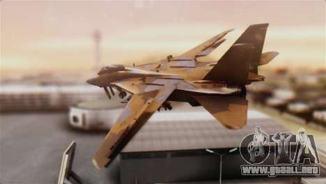 F-14A Tomcat NSAWC Brown para GTA San Andreas left