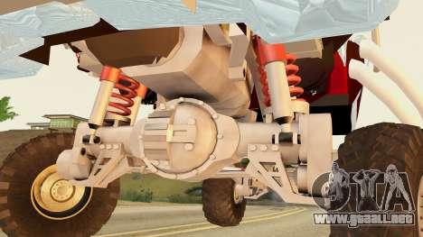 Gigahorse from Mad Max Fury Road para GTA San Andreas vista posterior izquierda
