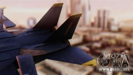F-14A Tomcat Blue Angels para GTA San Andreas vista posterior izquierda