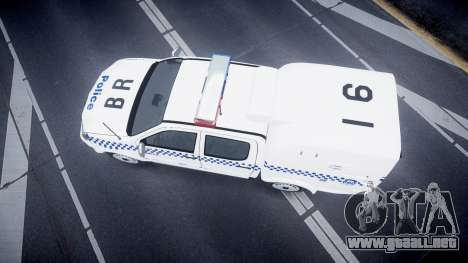 Toyota Hilux NSWPF [ELS] para GTA 4 visión correcta
