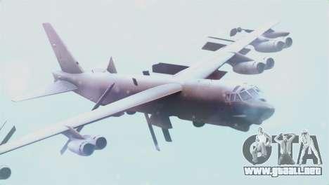 Boeing B-52H Stratofortress para GTA San Andreas vista hacia atrás