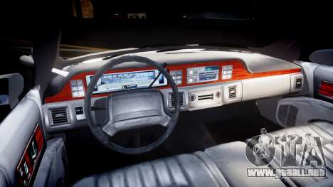 Chevrolet Caprice Chicago Police [ELS] para GTA 4 vista hacia atrás