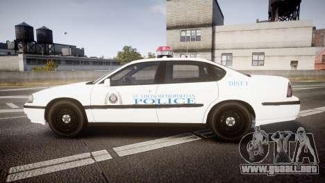 Chevrolet Impala Metropolitan Police [ELS] Pat para GTA 4 left