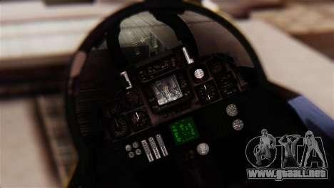 F-14A Tomcat Blue Angels para GTA San Andreas vista hacia atrás