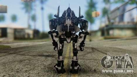 Soldier Jet Skin from Transformers para GTA San Andreas tercera pantalla