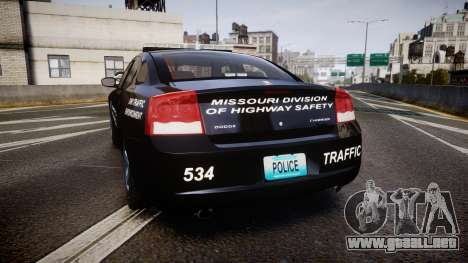 Dodge Charger Metropolitan Police [ELS] para GTA 4 Vista posterior izquierda