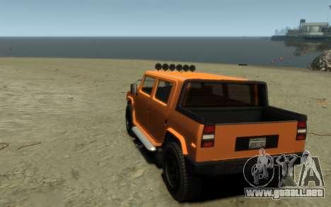 Mammoth Patriot Pickup para GTA 4 vista interior
