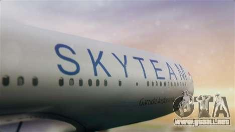 Airbus A330-200 Garuda Indonesia Sky Team para GTA San Andreas vista hacia atrás