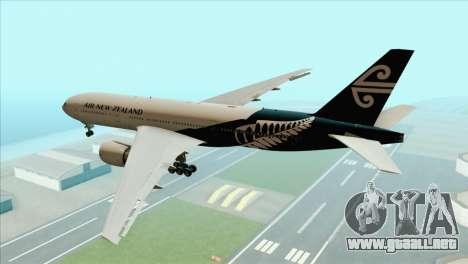 B777-200ER Air New Zealand Black Tail Livery para GTA San Andreas left
