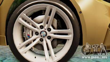 BMW M4 2015 IVF para GTA San Andreas vista posterior izquierda