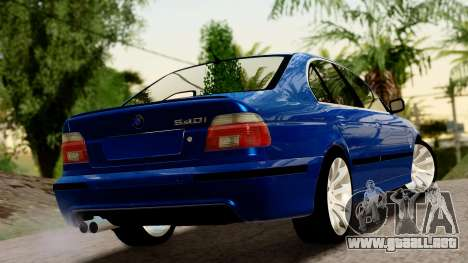 BMW 540i E39 para GTA San Andreas left