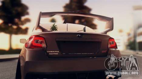 Subaru Impreza WRX STI 2015 para la visión correcta GTA San Andreas