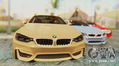 BMW M4 2015 IVF para GTA San Andreas