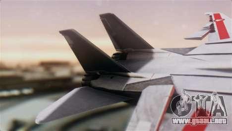 F-14D Tomcat Macross Red para GTA San Andreas vista posterior izquierda