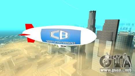 La publicidad de los dirigibles para GTA San Andreas segunda pantalla