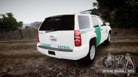 Chevrolet Tahoe Border Patrol [ELS] para GTA 4 Vista posterior izquierda
