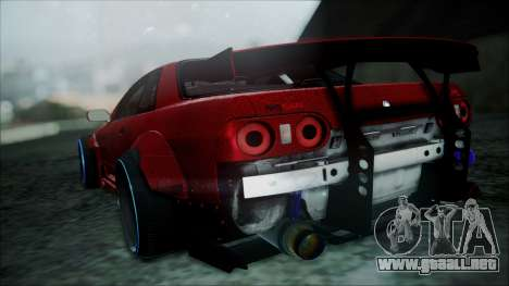 Nissan Skyline GT-R R32 Battle Machine para GTA San Andreas vista posterior izquierda