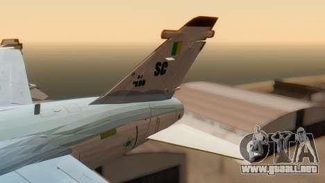 Embraer A-1 AMX FAB para GTA San Andreas vista posterior izquierda