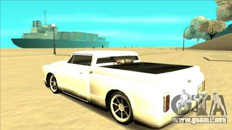 Slamvan Final para vista inferior GTA San Andreas