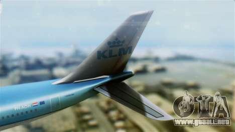 Airbus A330-200 KLM New Livery para GTA San Andreas vista posterior izquierda