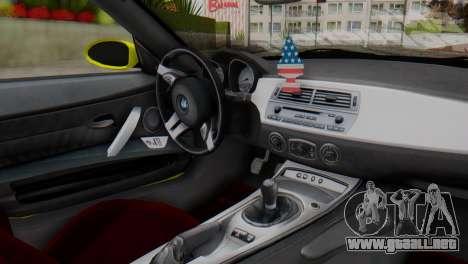 BMW Z4 Construcción de la Ens para la visión correcta GTA San Andreas