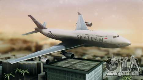 Boeing 747-400 Garuda Indonesia Sky Team para GTA San Andreas