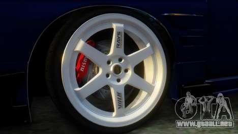 Nissan 180SX Uras Bodykit para GTA San Andreas vista posterior izquierda