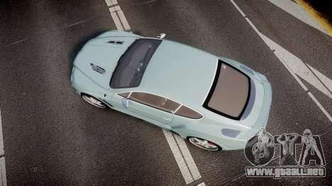 Bentley Continental GT Platinum Motorsports para GTA 4 visión correcta